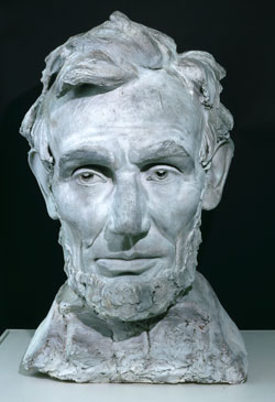 Daniel Chester French, Abraham Lincoln. Plaster, 1922. New-York Historical Society. Gift of Mrs. William Penn Cresson (Margaret French). # 1954.79.